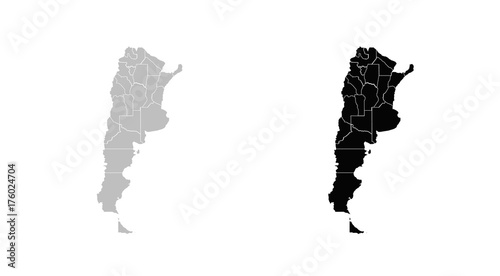 Wall mural map of Argentina