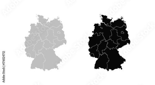 Wall mural Map of Germany