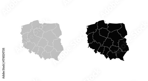 Wall mural map of Poland