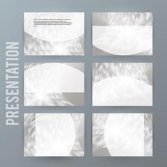 Metalic set presentation background modern blurry design14