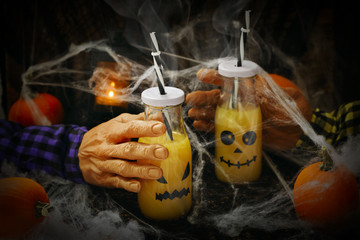 Orange cocktail for Halloween party
