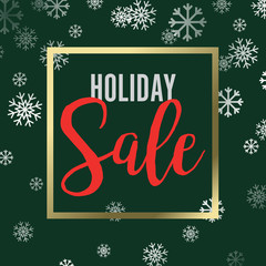 Holiday Shopping Sale Snowflakes Vector Illustration 1