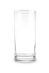 empty glass for water juice or milk
