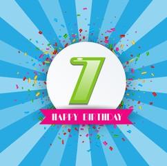 7th Anniversary Celebration Design
