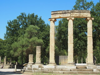 Ancient Ruins Olympia Greece