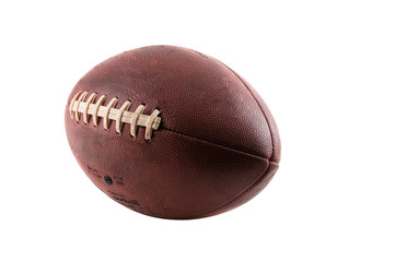 An American football isolated on a white background