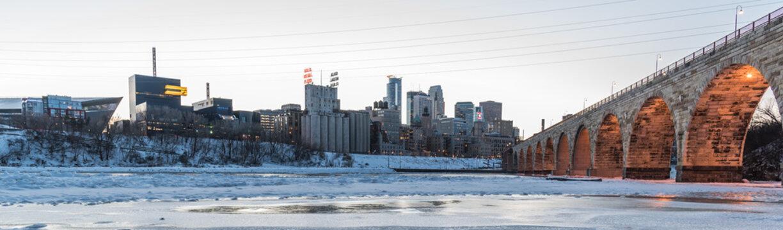Minneapolis Winter Panorama