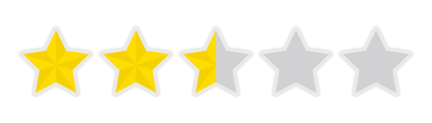 five-star rating icon (2.5)