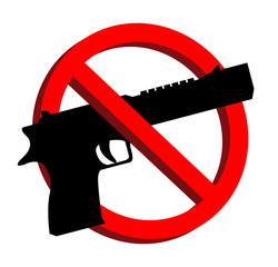no guns allowed prohibition signs vector eps10