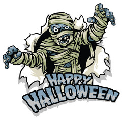 halloween design mummy character
