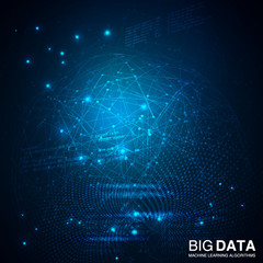 Big data visualization. Futuristic infographic.