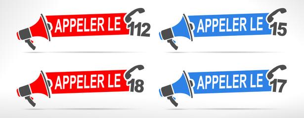 numéro d'appel d'urgence pompier police gendarmerie samu européen
