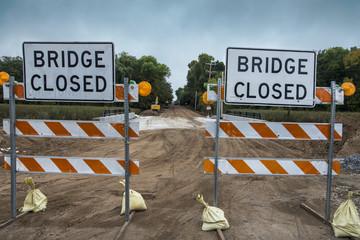 Under construction bridge and road