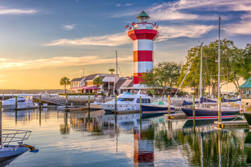 Fotobehang Vuurtoren Hilton Head South Carolina