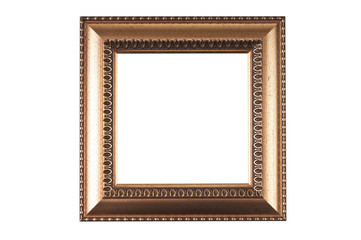 wooden frame for a picture isolated