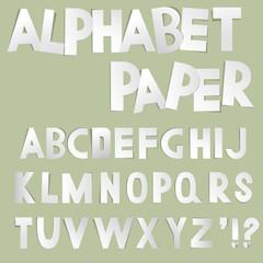 Paper cut alphabet vector