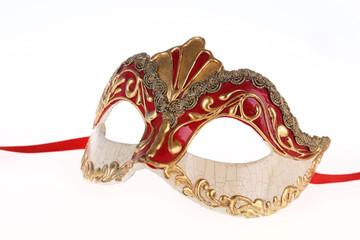 Venetian carnival mask isolated