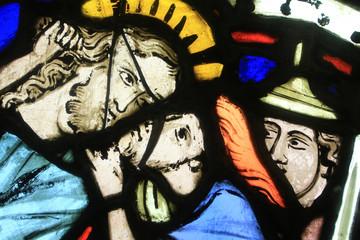 Le Baiser de Judas. Vers 1260. Oeuvre Notre-Dame de Strasbourg Museum. The Kiss of Judas.