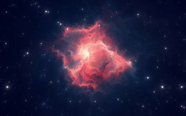 Space nebula, for use with projects on science, research, and education. 3d illustration