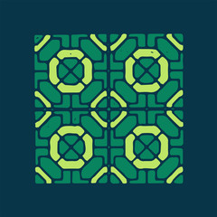 Mosaics color geometrical ornament.