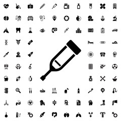 Injection icon. set of filled medicine icons.