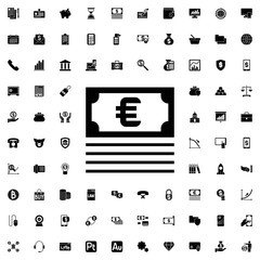 Money icon. set of filled finance icons.