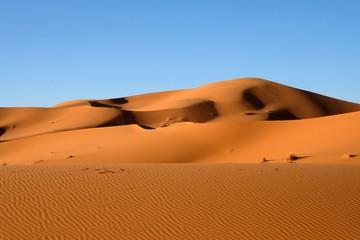 Sand dunes in Sahara desert.