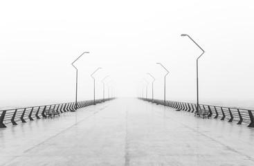 Fog on embankment