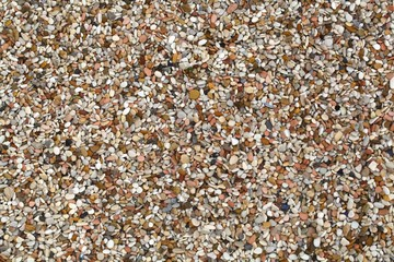 Different colored beach pebbles