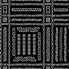 Hand Drawn Ethnic Style Vector Seamless Pattern