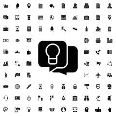 Idea icon. set of filled company icons.