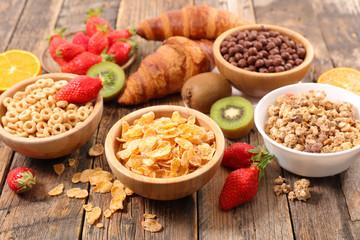 assorted cereal breakfast