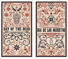 Day of the dead. Dia de los muertos. Set of banner templates.