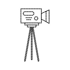 video camera icon professional camcorder with tripod