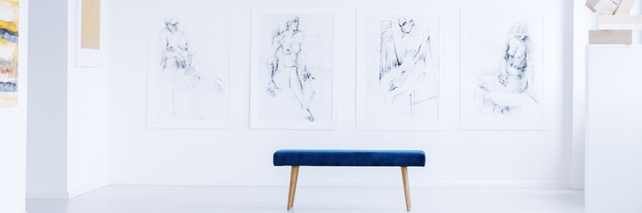 Drawings in contemporary art gallery