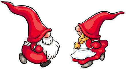 Niedliche Weihnachtswichtel - Vektor-Illustration