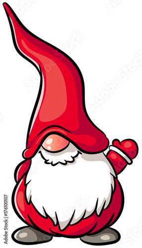 Niedlicher weihnachtswichtel vektor illustration stock image and royalty free vector files - Clipart weihnachtswichtel ...
