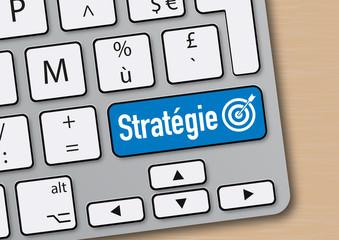 stratégie - entreprise - objectif - mot - orientation - clavier d'ordinateur - succès - réussite