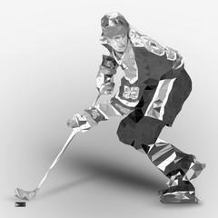 Ice Hockey Low Poly
