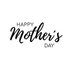 Happy Mother´s Day - modern lettering on white background