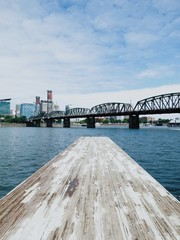 Pier Overlooking City Waterfront