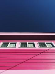 Pink House / Blue Sky