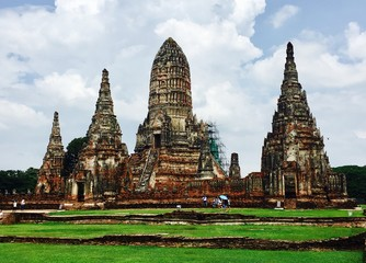 Wat Chaiwatthanaram temple, historical park in Ayutthaya, Thailand
