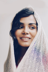 happy portrait of indian young woman