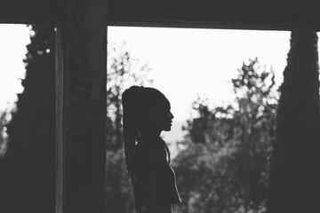 Portrait of black woman with dreadlocks