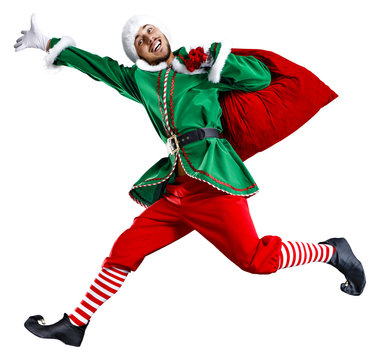 xmas time and green elf