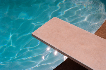 Film Photo of a Diving Board