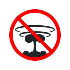 No Nuclear Bomb. War Sign. Vector illustration