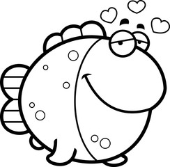 Cartoon Fish in Love
