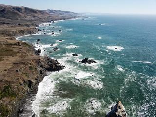 Aerial View of Sonoma Coastline in Northern California